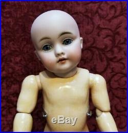 Antique German Bisque Head Doll Kestner 143 Org Marked Kestner Body 13 inch CUTE