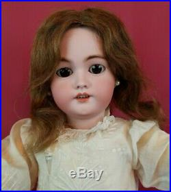 Antique German Bisque Head Doll Simon Halbig 1078 Brown Eyes 25 inch Beauty