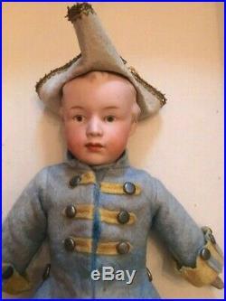 Antique German Bisque Heubach Boy Doll #7072