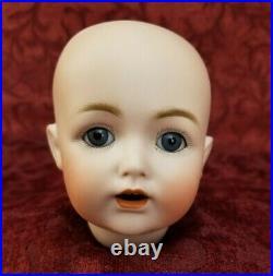 Antique German Bisque Socket Doll Head Kestner JDK 257 Sleeping Blue Eyes