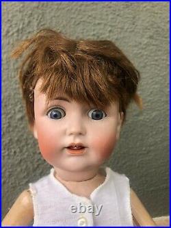 Antique German Bisque Socket Head Kestner 257 TODDLER BOY Doll 18 Sleep Eyes