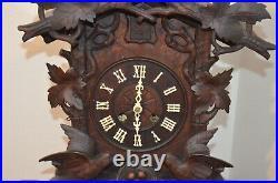 Antique German Black Forest Three Bird Shelf/mantel Cuckoo Clock Late1800's