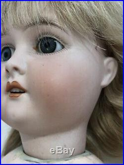 Antique German Doll 22 Adolf Wislizenus A. W. Special Bisque Head Doll