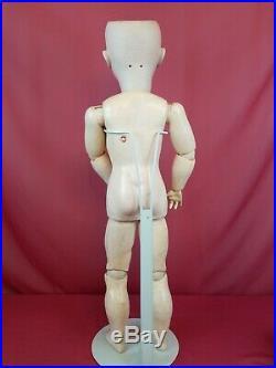 Antique German Doll Walkure 5 70 Bisque Head Blue Eyes Original Marked Body 28