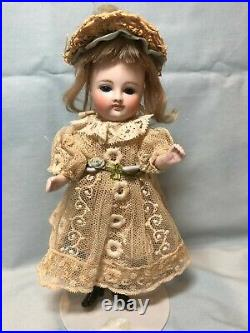 Antique German Early Pouty Kestner All bisque Doll, 6 1/2