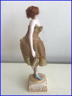 Antique German Galluba & Hoffman Bisque Fashion Lady Figurine! VERY RARE