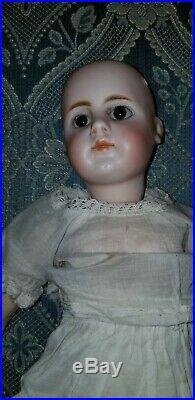 Antique German Gebruder Kuhnlenz 32-26 Bisque Socket Head Closed Mouth Doll 15