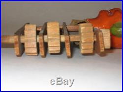 Antique German Halloween Wooden Noise Maker Germany Vintage Decoration 1920s
