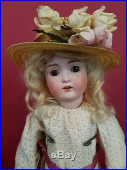 Antique German Kestner 171 Bisque Head Jointed Kestner Body 17 Blonde Mohair