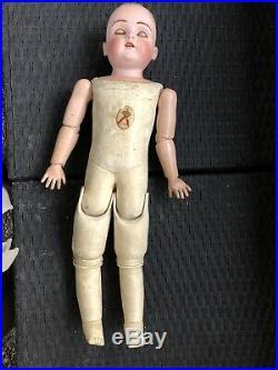 Antique German Kestner Bisque Shoulder Head Doll 24 Tall Mold DEP # 195