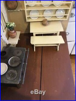 Antique German Large kitchen doll house Room Box