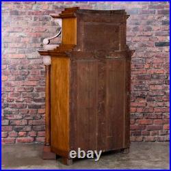 Antique German Mahogany Biedermeier Secretary Desk