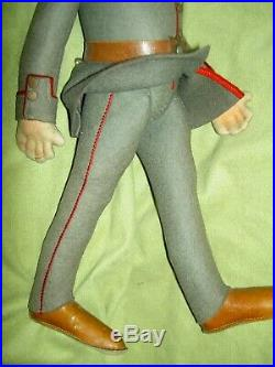 Antique German, STEIFF Military uniformed Soldier, button-in-ear doll EXCELLENT