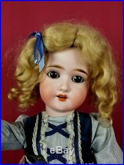 Antique German Schoenau & Hoffmeister 1909 Bisque Head Doll Brown Sleep Eyes