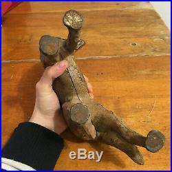 Antique German Shepherd Dog Cast Iron Hubley Left Facing Door Stop Vintage Art