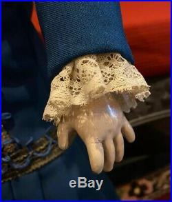 Antique German Simon Halbig bisque jointed composition doll 26 1079 DEP 13