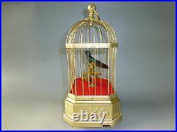 Antique German Singing Bird Cage Music Box Automaton Fully Service (Watch Video)