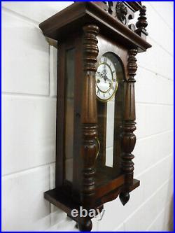 Antique German Wall Clock Antique Regulator Vintage
