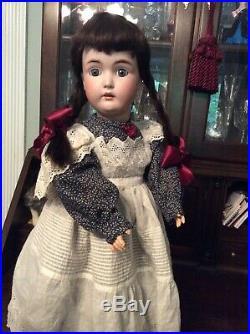 Antique German bisque head Kestner 171 child doll