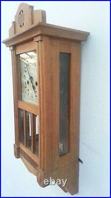 Antique Hac (junghans) German Pendulum Wall Clock Regulator