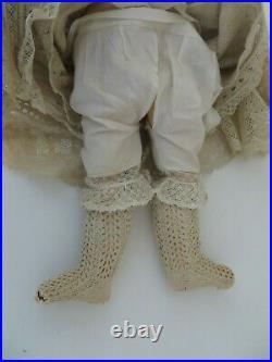 Antique Heinrich Handwerck Simon & Halbig German Bisque Doll 18 IN, Stamped Body