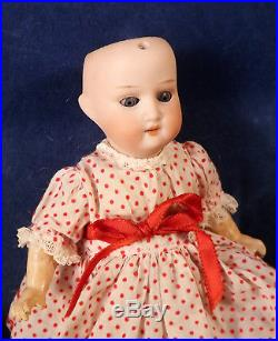 Antique Heubach 8 Bisque Head Doll 250 PM Body Cute Vtg Dress Lg Dollhouse Size