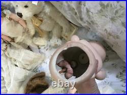 Antique Heubach Kopplesdorf German Doll Mold #250 4 21 Tall Human Hair Wig