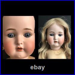 Antique K R Simon & Halbig 76 29 Doll Bisque Head Composition Body Real Hair