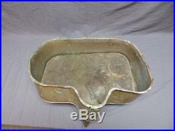 Antique Kitchen Sink German Nickel Silver Over Copper Vtg Pantry 660-18P