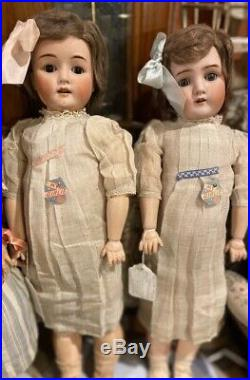 Antique Mystery 24 German Bisque RARE Factory Original Twin My Girlie Dolls