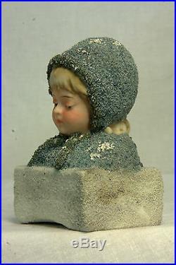 Antique Rare German Bisque Galluba and Hoffman Blue Snowbaby c1910