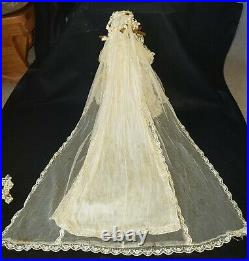 Antique Rare Jumeau French Fashion Doll 16in Bride # 5 Bisque Swivel Head