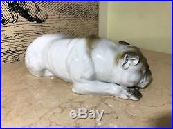 Antique Rare Mid 19th Century German Vintage Bulldog Porcelain figure figurine