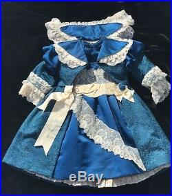 Antique Silk Dress and Hat for Antique French German 28 Doll BRU Jumeau Kestner