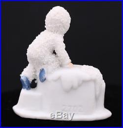 Antique Snow Baby, Snowbabies German Snowbaby With A Bear, Vintage Snow Baby