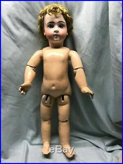 Antique Sonneberg bebe 136 doll on Jumeau body. Gorgeous wig