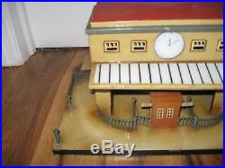Antique Tin German Kibri O Gauge Train station Clock Fence Very Rare Vintage