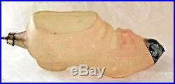Antique VTG Unsilvered Pink Ladies Button Shoe German Glass Christmas Ornament
