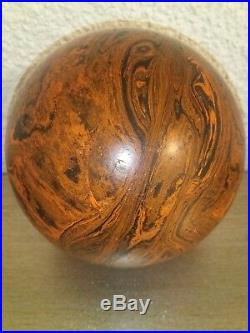 Antique Vintage 100% Old German Bakelite Catalin Ball Pumpkins Blak Weined Rar