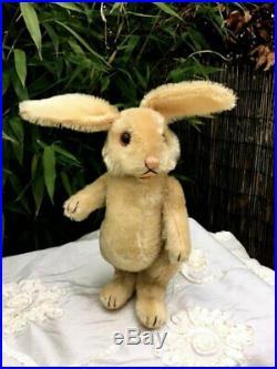 Antique / Vintage 9 inch German Steiff Mohair Rabbit 1950's