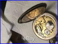 Antique Vintage Collectible Swiss Zenith Favre Leuba German Silver Pocket Watch