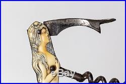Antique Vintage Corkscrew-Mermaid Celluloid German Pocket Wine Opener, Marked