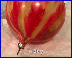 Antique Vintage End Of Day Colorful Glass German Christmas Ornament