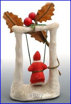 Antique / Vintage German Santa Snow Baby, Snowbaby, Bisque Santa Snowbabies RARE