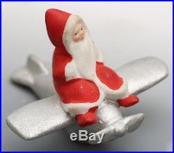 Antique / Vintage German Santa Snowbaby Snowbabies Hertwig Snow Baby Airplane