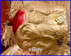 Antique Vintage Large Walking Elephant German Glass Figural Christmas Ornament