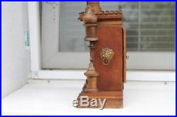 Antique Vintage Old German Wooden Wall Watch