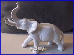 Antique / Vintage Porcelain Elephant -made In German Democratic Republik
