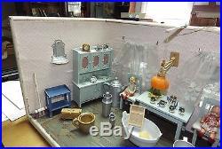 Antique Vintage Porcleain Dolls, Dollhouse, Furniture, Diorama, German, 1930s