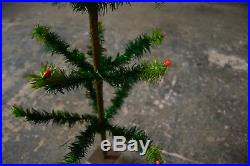 Antique Vintage Victorian German Goose Feather Christmas Tree